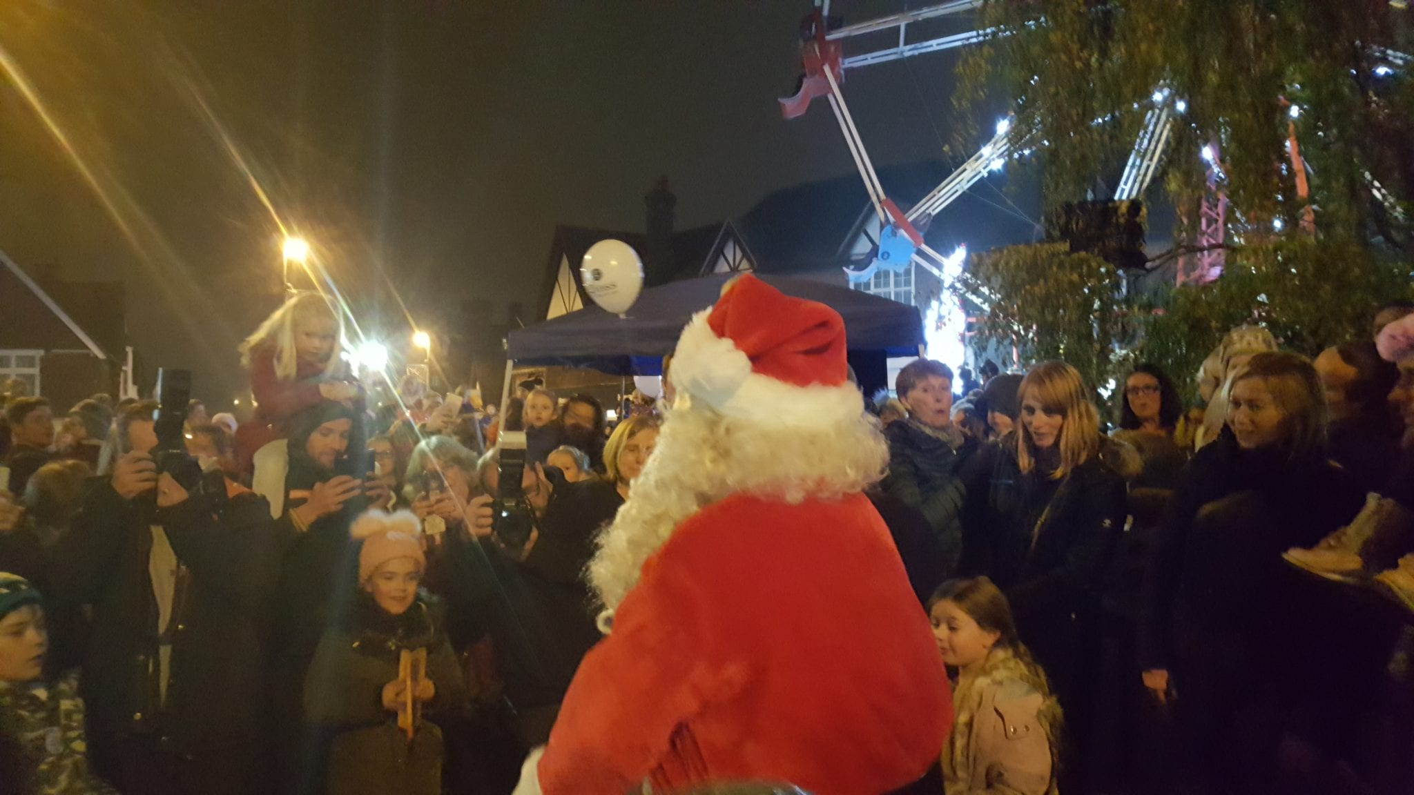 Oxted late night shopping and Christmas lights switch on 2018