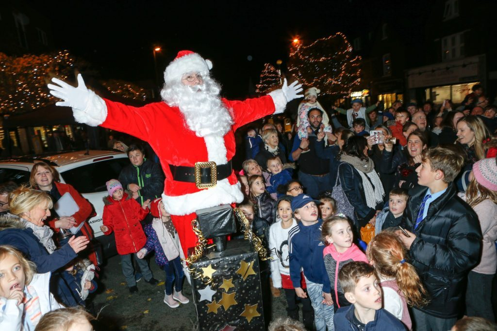 Santa switches on the lights with the help of the crowd (Photo: Grant Melton)